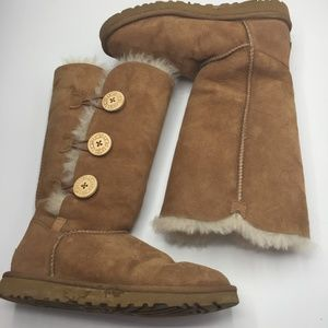 UGG Bailey Button Triplet II Suede Boots